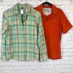 Patagonia & Eddie Bauer Hiking Active Tops 4 Small